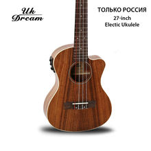 Wooden Guitar 27-inch Acacia With Eletric Box Electric Ukulele Chipping Classic 4 Strings Only Russia UT-C8QEQ