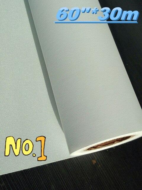 """Surface mate de rouleau de toile de jet dencre deco solvant de polyester de 60 """"* 30m 600d * 600d"""