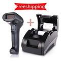 Caliente-venta! supermercado impresora de recibos térmica 58mm impresora térmica de 58mm de la máquina de facturación Sistema 5890 K Escáner de código de Barras Pos NT-F9