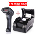 Hot-sale! Supermarket thermal receipt printer 58mm thermal printer 58mm billing machine Pos System 5890K Barcode Scanner NT-F9