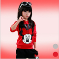 baby girls clothing sets cartoon minnie Mickey 2016 winter children's wear cotton casual tracksuits kids clothes sports suit