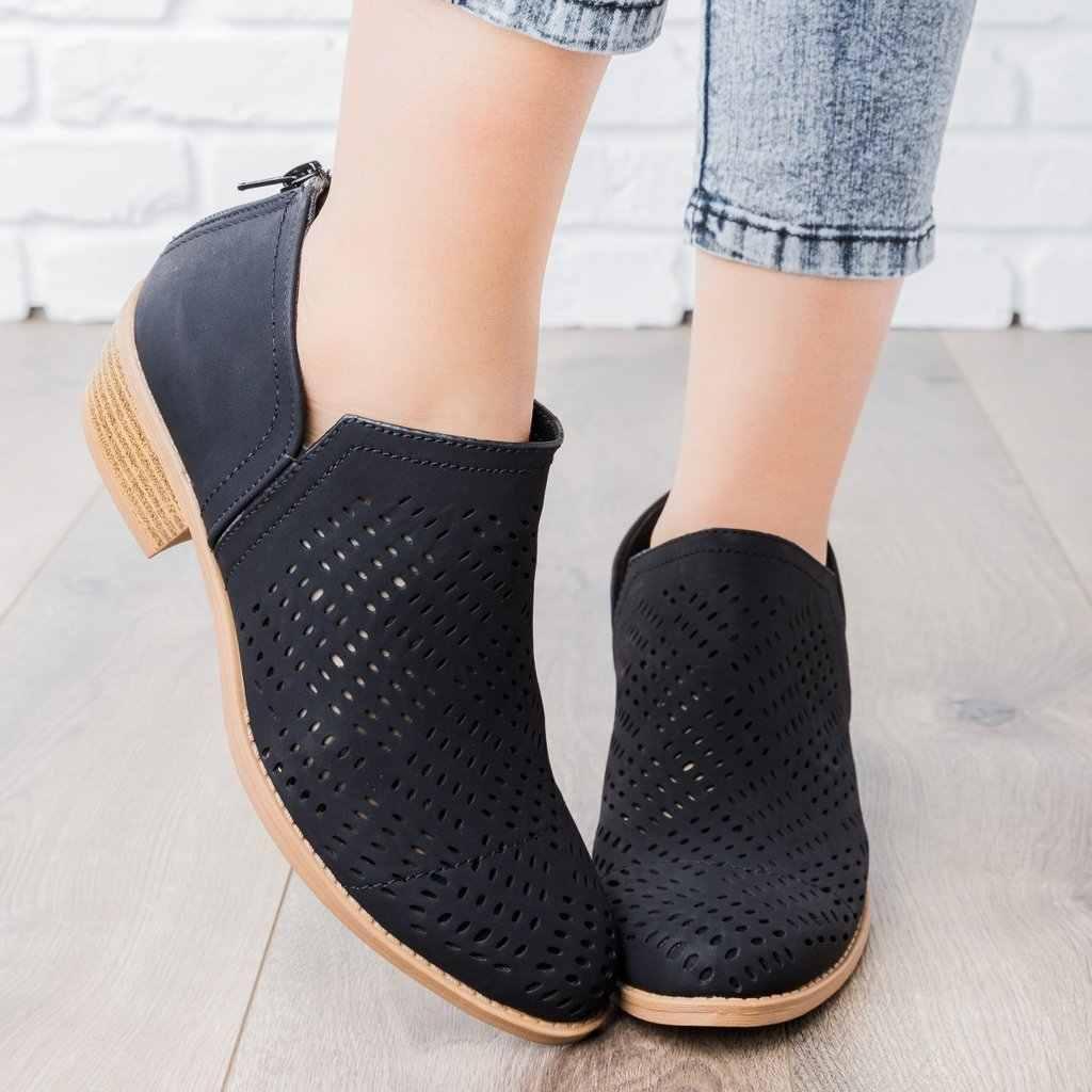 SHUJIN Kadın Botları Sonbahar Kış Çizmeler klasik Fermuar Çizmeler üzerinde Kayma Torridity Nefes Kadın Ayakkabı Rahat Ayakkabı 35-43