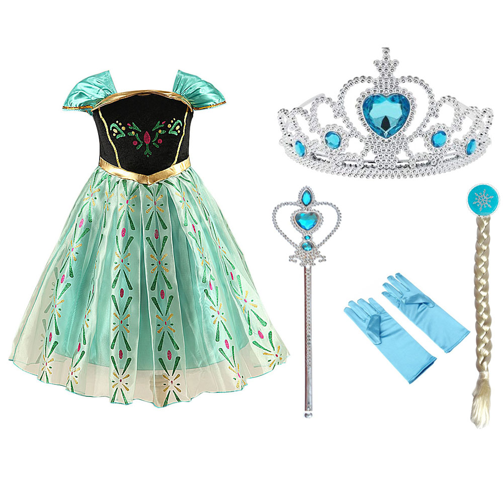 HTB1VVveXJfvK1RjSspoq6zfNpXa1 Tiange Wedding Elsa Anna Dress Girls Costume Cute Party Princess Cosplay Baby Dresses Children's Christmas Birthday Set Clothes