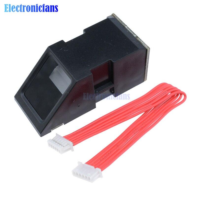 Módulo do sensor do leitor de impressão digital fpm10a óptica módulo de impressão digital bloqueia interface comunicação serial para arduino