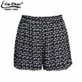Women Shorts  Chic Floral Print Shorts Elia cher Brand Chic Elegant Plus Size Casual Women Summer Clothing