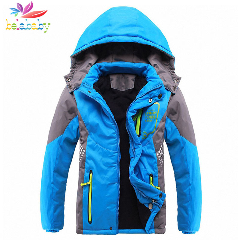 Belababy 4-14Y Boy Winter Coat 2017 New Kids Boys Thick Warm Down Jackets Brand Children Long Sleeve Hooded Jackets For Boys 5 14y high quality boys thick down jacket 2016 new winter children long sections warm coat clothing boys hooded down outerwear