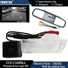 FUWAYDA Color CCD Chip Car Chip Rear View Camera for Ford Edge Escape Mercury Mariner + 4.3 Inch  rearview Mirror Monitor HD