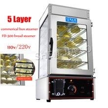 FD-500 коммерческий Электрический паровой шкаф, окруженный закаленным стеклом, коммерческий Пароварка булочек, пароварка для хлеба, булочки, печь