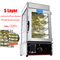 FD-500 armário de vapor elétrico comercial cercado de vidro temperado commerical bun vapor pão vapor forno pães