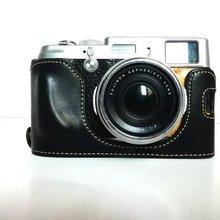 Nouveau Fashional En Cuir Bas Caméra Sac Noir Cas pour Fujifilm Fuji X100 X100S X100T Camear Demi de Couverture avec Sangle