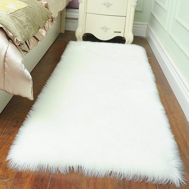 thick luxury plush Artificial wool carpet bedroom living room windows fur rug pad modern sofa soft rug tapetes customized