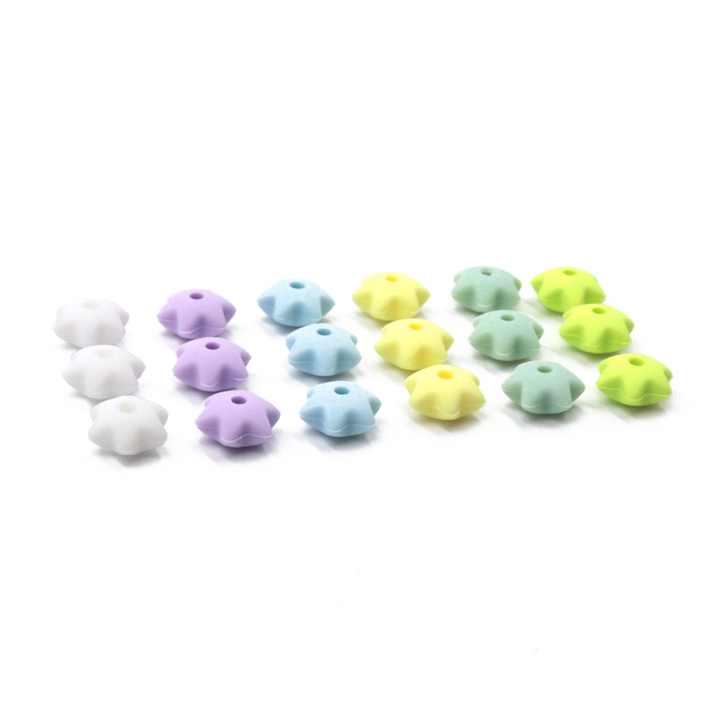 TYRY.HU 50pc/lot Silicone Beads 12*8mm Bpa Free Baby Teether Beads Baby Teething Necklace Accessories Food Grade Silicone Bead