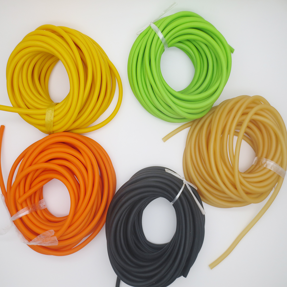 freeshiping 3060 10m Natural Latex Slingshots Rubber Tube Bow Band Catapult Elastic Part Fitness Bungee Equipment Tool