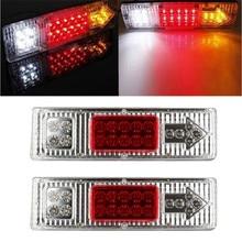 2pcs 12V Car Rear Reverse Turn Indicator Lamp LED Truck Trailer Caravan Van Rear Tail Stop Waring Fog Lighting Free Shipping цена