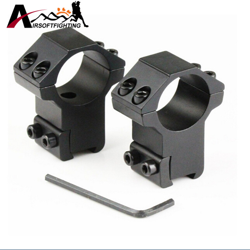 цена на 1 Pair High Profile 30mm Ring for 11mm Dovetail Picatinny Weaver Rail Tactical Hunting Rifle Gun Scope Sight Mount Base