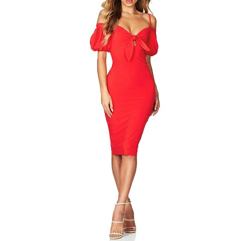 red Robe Évider Mode Manches Femmes Lacée Black Longues Lady Feuille white Partie Arc Porter Robes Sangle Lotus Discothèque La De Mince Sexy tgwRpq5t