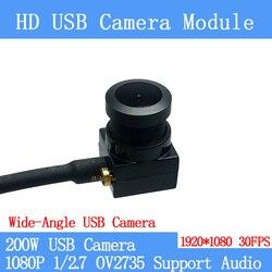 Szeroki kąt H: 130 stopni 1080P Full Hd MJPEG 30fps moduł kamery USB Android Linux UVC kamera internetowa Mini kamera nadzoru w Kamery nadzoru od Bezpieczeństwo i ochrona na
