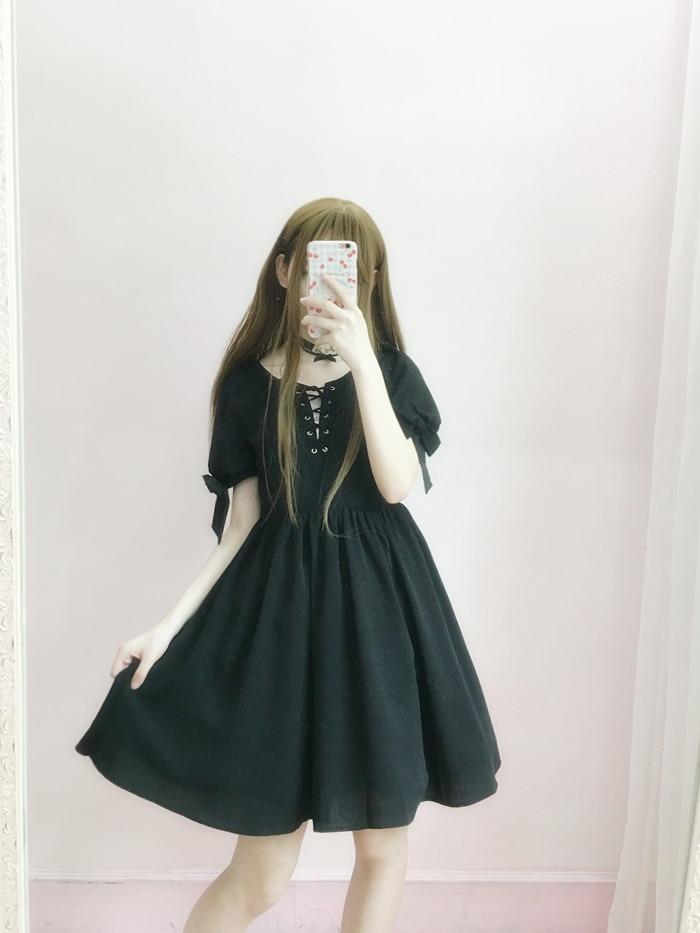 Petite Princesse Noir Jours Courtes Sd013 Op D'été Lolita Tous Femmes Caroline Robe Sœur Manches Sweet Les Doux rrzgH4