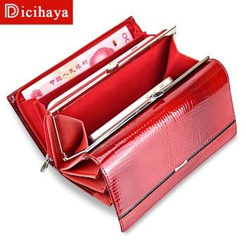 DICIHAYA Purses Women Zipper Wallets Brand Design High Quality Leather Wallet Female Hasp Fashion Alligator Long Women Wallets
