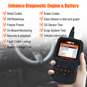 Image 2 - Ancel EU510 OBD2 スキャナコードリーダー自動バッテリーテスター自動診断 obd 2 自動車スキャナー車診断ツール pk ELM327