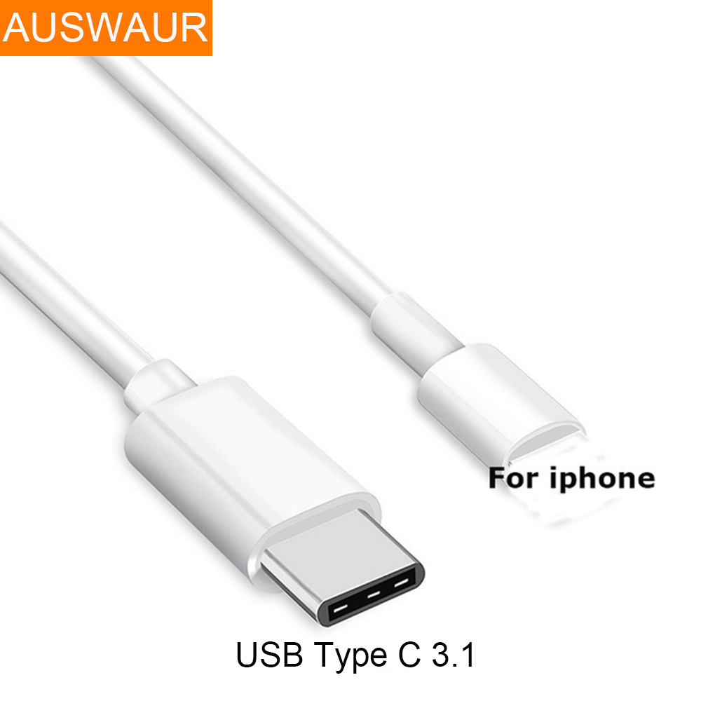 For Iphone X 6 6S 7 8 Plus  Male To USB Type-C 3.1 Fast Charger Cable Data Sync For Macbook Ipad Air Ipad Mini Laptop IOS Device