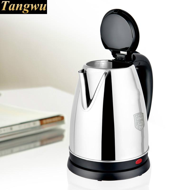 Household electric kettle 304 stainless steel boiling kettlepot Safety Auto-Off Function 220v household 1 2l electric kettle food grade 304 stainless steel inner anti scald material fast boiling eu au uk plug
