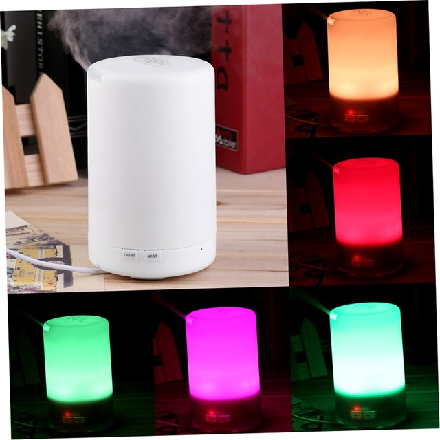 180ML Ultrasonic USB Mini Diffuser Air Humidifier Purifier LED Light Atomizer