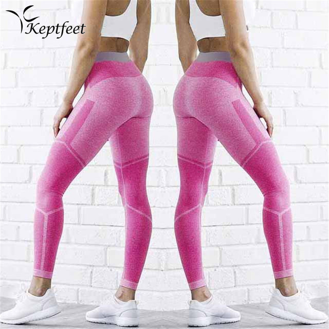 1dc6894c368fe Sport Legging Women Fitness Running Workout Yoga Pants Pink Patchwork Tights  Leggings Women Gym Clothing