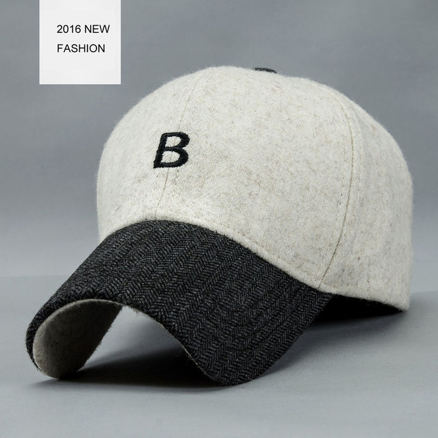 Customized Your Own Logo Letter B embroidery Winter Baseball Cap For Men And Women Adjustable For Adult Free Shipping YF102801