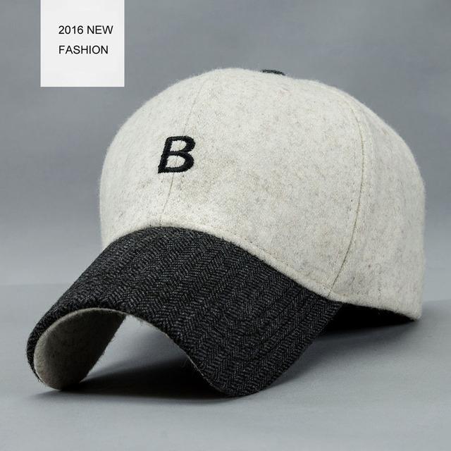 Personalizado Seu Próprio Logotipo Letra B bordado Boné de Beisebol de Inverno Para Homens E Mulheres Ajustável Para O Transporte Livre Adulto YF102801