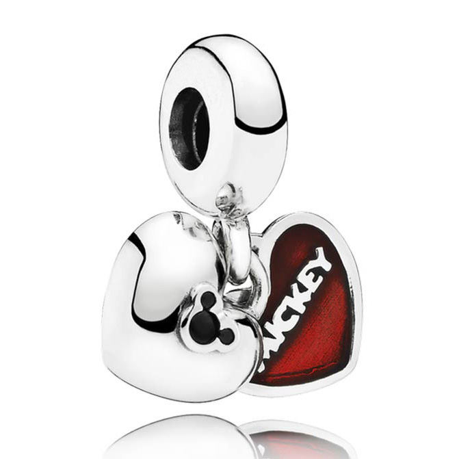 Authentic 925 Sterling Silver Bead Charm Enamel Love Heart Cartoon Mouse Pendant Beads Fit Pandora Bracelet DIY JewelryAuthentic 925 Sterling Silver Bead Charm Enamel Love Heart Cartoon Mouse Pendant Beads Fit Pandora Bracelet DIY Jewelry