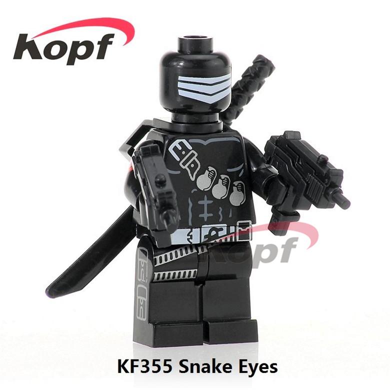 20Pcs KF355 Super Heroes Gi Joe Series Snake Eyes Sgt. Slaughter Serpentor Pantro Building Blocks Bricks Gift Toys For Children