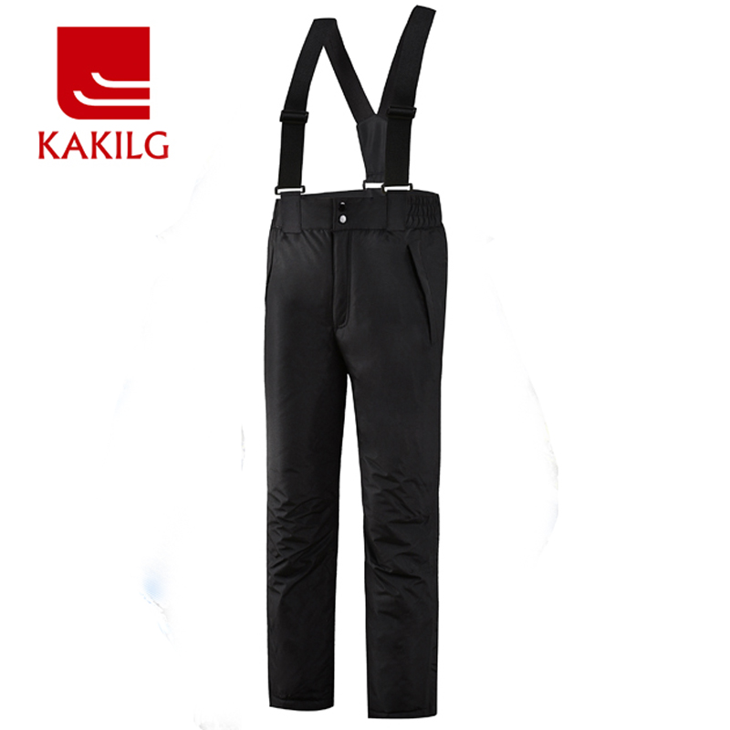 Ski Pants Men Waterproof Skiing Snowboard Pant Man Breathable Windproof Winter Warm Trousers Outdoor KAKILG Full Length KL7081 mens winter softshell pant waterproof trousers cycling skiing hiking camping pants men soft shell fleece thermal outdoor trouser