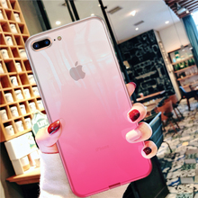 Ultra Thin Gradient Transparent Case For iPhone 7 8 6 6S Plus Crystal Clear TPU Soft Silicone Cover X XS 5S 5 SE