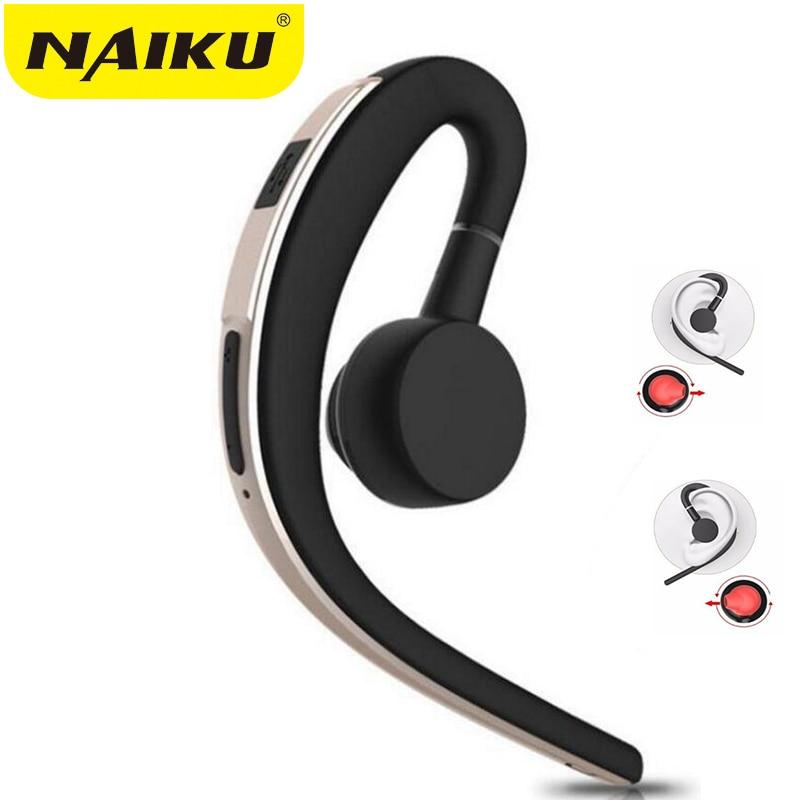 NAIKU Sans Fil Mains Libres Bluetooth D'affaires Casque Avec Micro Contrôle Vocal Bluetooth Casque Pour Lecteur Antibruit