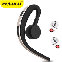 NAIKU Wireless Handsfree Business Bluetooth Headphone With Mic Voice Control  Bluetooth Headset For Drive Noise Cancelling daono v9 handsfree business bluetooth headphone with mic voice control wireless bluetooth headset for drive noise cancelling