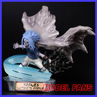MODEL FANS instock NARUTO 19cm Sasuke pvc figure chinese version figure toy for Collection
