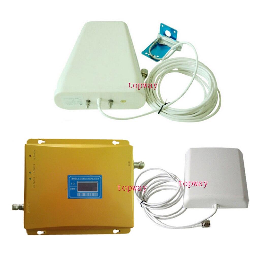 VOTK 3G GSM Répéteur de Signal mobile GSM AMPLIFICATEUR de SIGNAL 3G téléphone portable GSM900mhz WCDMA2100mhz BI-BANDE signal Amplificateur
