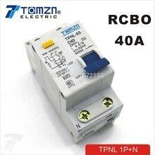 DPNL 1P+ N 40A 230V~ 50 HZ/60 HZ автоматический выключатель с защитой от перегрузки по току и утечки RCBO