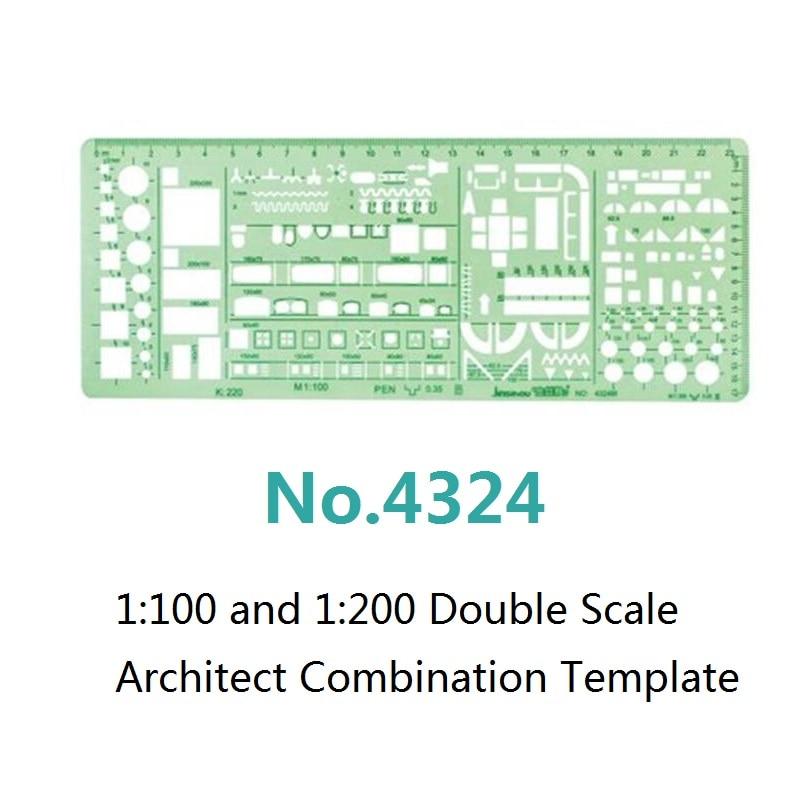 1: 100 en 1: 200 Sjabloon met dubbele schaal Architect Combinatie - School en educatieve benodigdheden - Foto 3