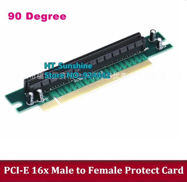 1pcs/lot 90 degree PCI Express 16x Riser Card Male to Female Right Angle PCI-E x16 to 16x slot protect Adapter 1U PC Server Case