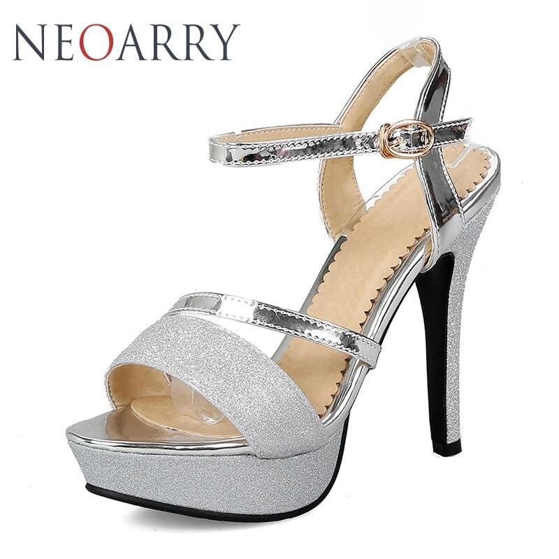Taille Dames Plus 43 Neoarry Femme La Gold Hauts Sandales Boucle Sexy Talons silver Nuit 33 Brillant Bling 2018 Lt319 Club À Chaussures Cheville R4AL35j