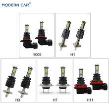 MODERN CAR Auto Car Fog Lights 4SMD CR-3535 Chip H7 H11 1156 1157 3157 9005 9006 H4 T20 H8 H1 Headlight Fog Lamp Bulbs 50W Black modern car h8 h11 h4 h7 h1 1156 1157 t20 9005 9006 led fog lamp bulbs super bright fog lights driving car light source 6000k