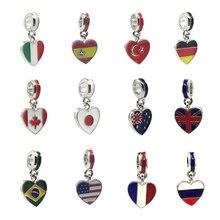 d6e00c07dd27 Flag Charm Pandora - Compra lotes baratos de Flag Charm Pandora de ...