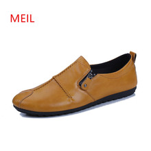 Man Black Leather Loafers Casual Flat Red Shoes Men Slip on Driving Shoes for Men Fashion  Mens Loafers Brand Breathable Shoes hot 2016 spring new brand men s shoes british style breathable men casual shoes black and white slip on man leather pu shoes