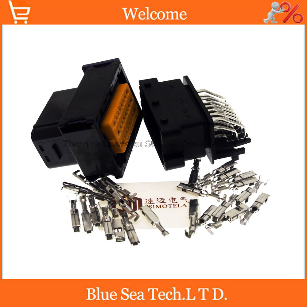 24 Pin/way male&female car oil-modified gas computer board CNG connector,Auto ECU plug for VW Audi BMW Toyota etc. free delivery car engine computer board ecu 0261208075