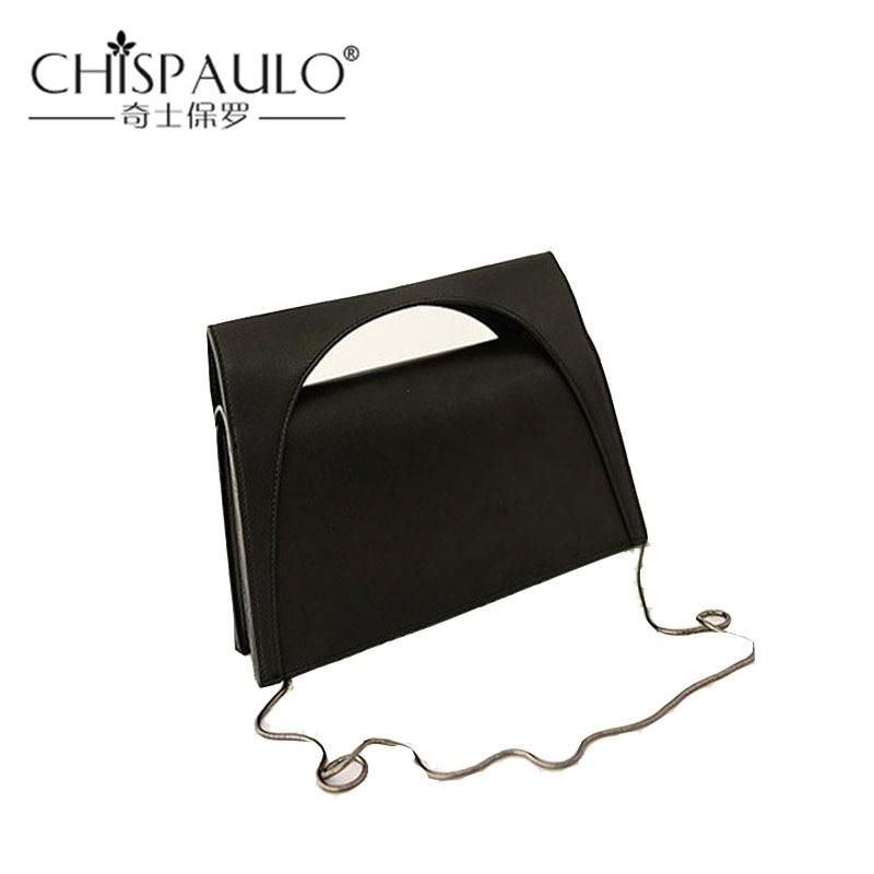 New Women Handbags Vintage Shoulder Bags ladies evening bag washed leather Messenger bag Fashion wooden horse bag lady chain ba