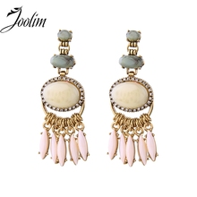 JOOLIM Jewelry Wholesale/2016 Matte Gold Tassel Earring Christmas Gift Free Shipping