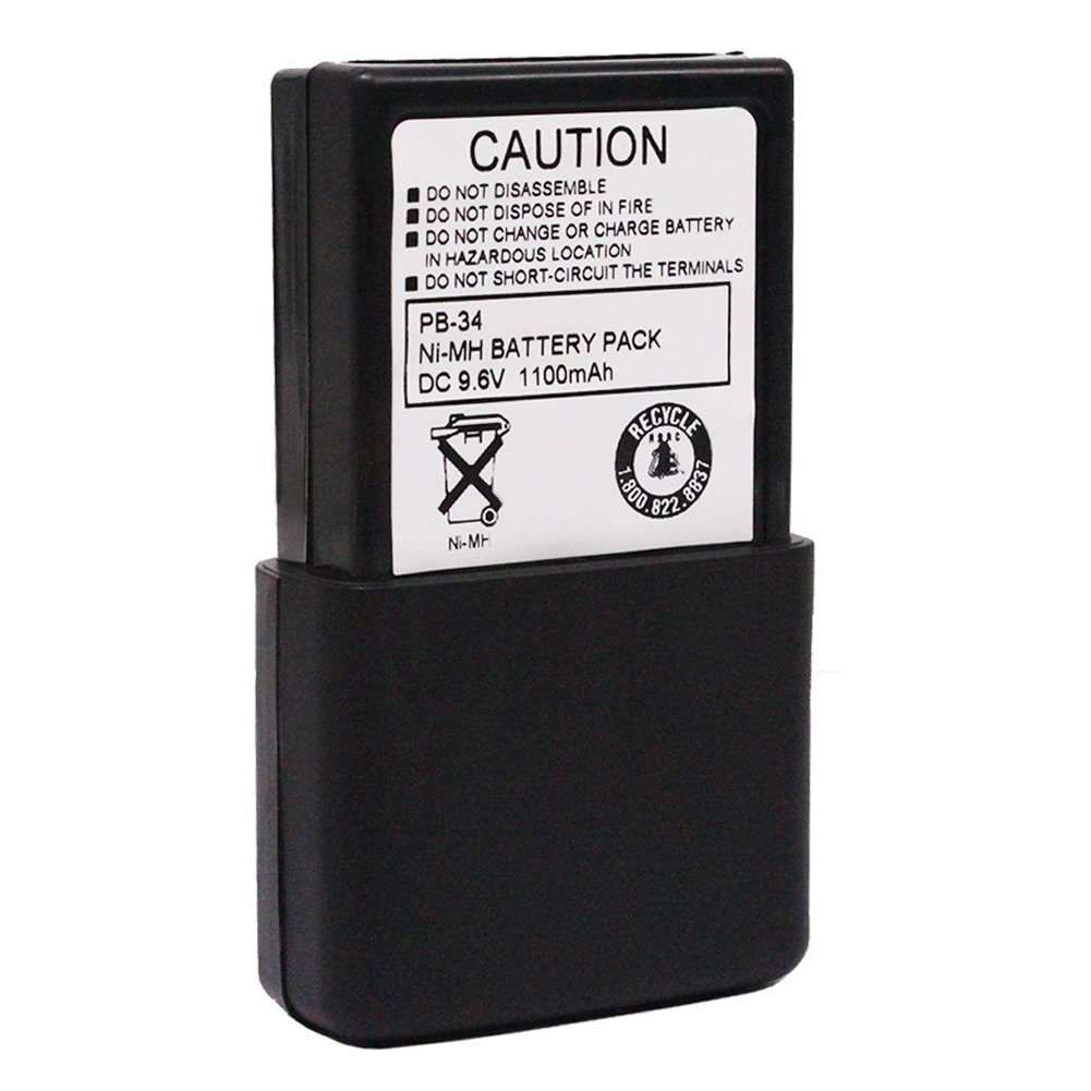 PB-34 PB-34H 9.6V 1100mAh Ni-Mh Battery Compatible For Kenwood Two Way Radio TH-22 TH-22A TH-22AT TH-22E TH-24 TH-42