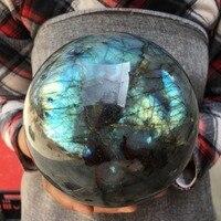 Big Size Natural labradorite quartz sphere rock crystal ball healing Natural stones and minerals